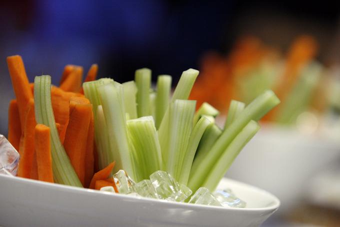 ひんやり冷えた野菜スティック