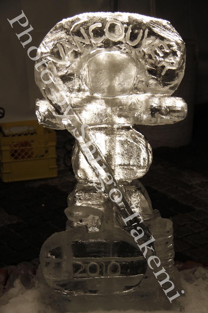 氷のオブジェ(バンクーバー五輪編)