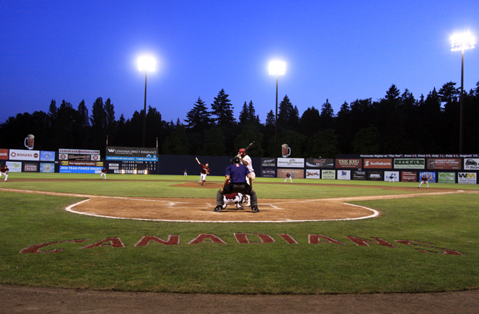 Vancouver Canadiansの試合模様 (at Nat Bailey Stadium)