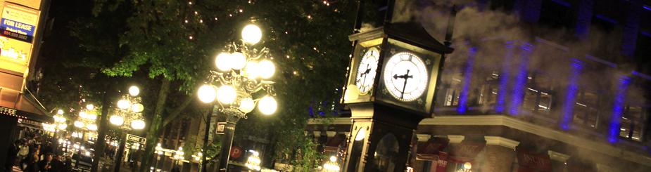 ガスタウンの蒸気時計の写真