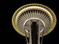 シアトルのスペースニードルから見る夜景