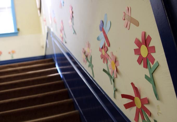 飾られた階段