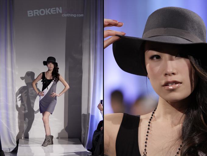 アジア系のモデルさん、日本人かな?