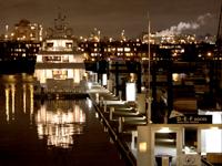 バンクーバーイエールタウンの夜景写真