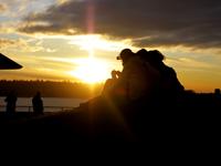 夕日が綺麗な日の写真