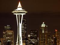 シアトルの夜景写真