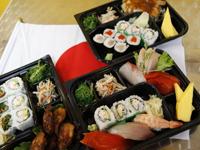 バンクーバーのお寿司屋(ZERO ONE)の五輪丼の写真