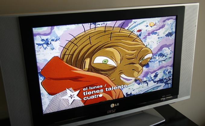 で、ホテルでテレビをつけてみると「ドラゴンボール」のスペイン語版。その回はブウの時のバビディ(だっけ?)でした。