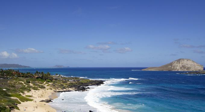 やっぱりハワイといったら青い空と海!