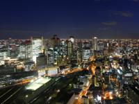 大阪の街「空中庭園展望台」