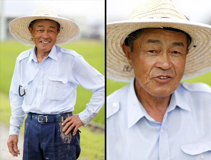 田中さん。本当に親切で温かいお方。まっすぐ目を見て親切に合鴨米について説明して下さいました。。